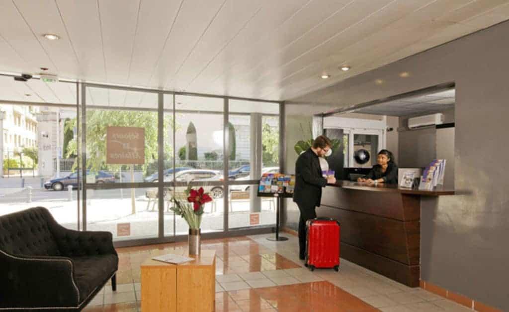 Entrada de Apart Hotel em Aix-en-Provence na França