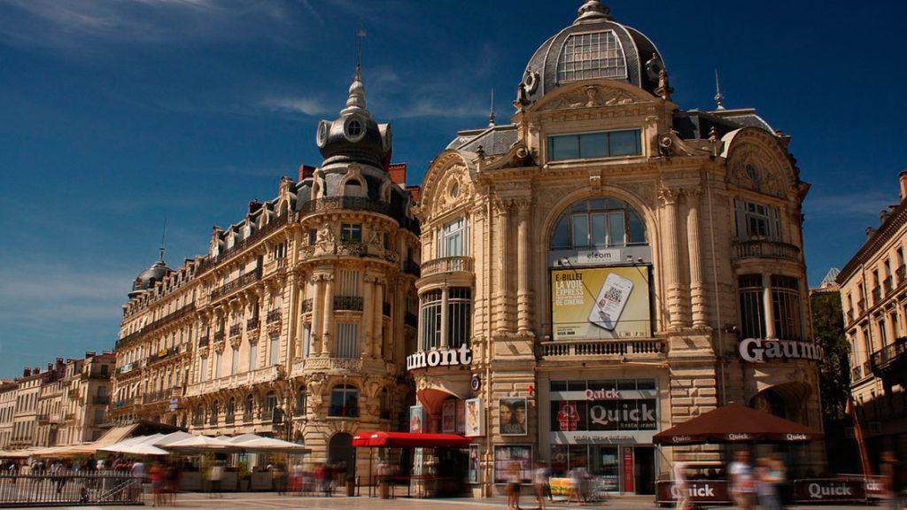 Cidade de Montpellier na França