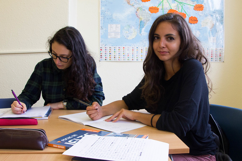 Estudantes da escola em Liverpool