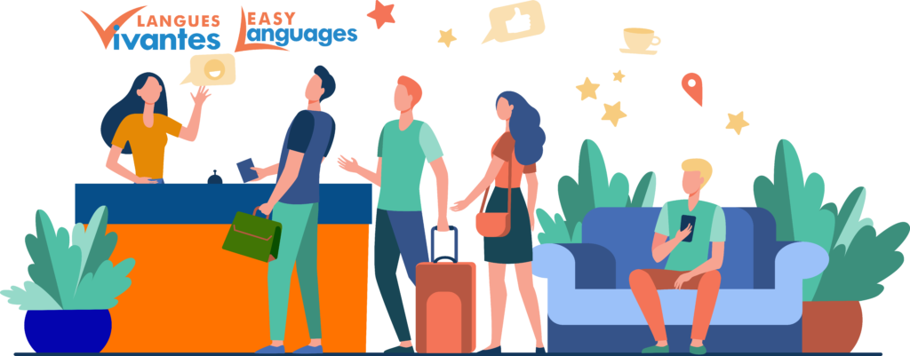 people booking a trip - pourquoi langues vivantes